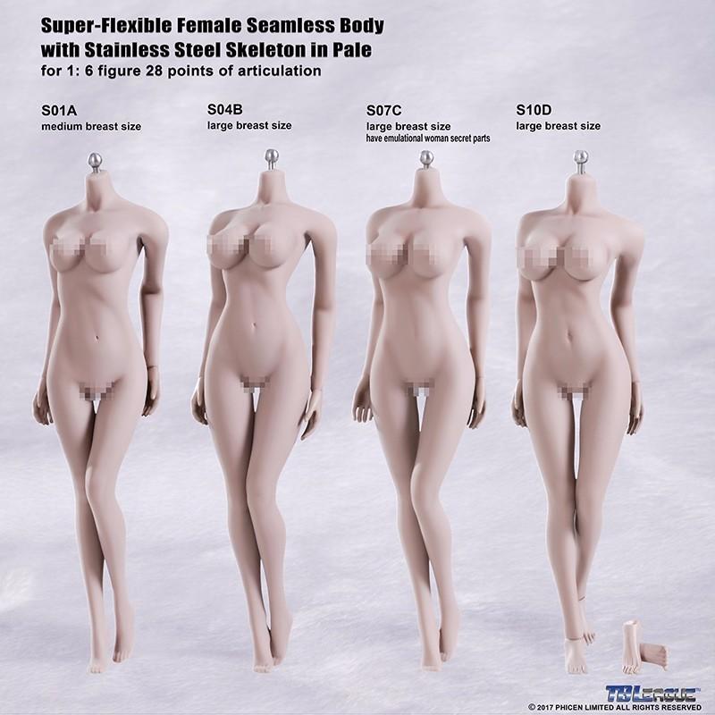 1//6 TBLeague Female Seamless Body Suntan Large Bust S09C w//Steel Skeleton Phicen
